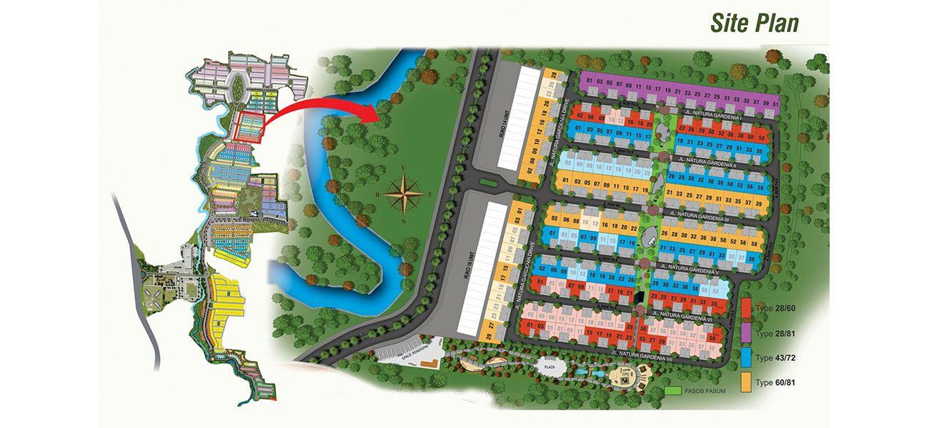 Residensial Serpong Natura City Cluster Natura Gardenia di Bogor