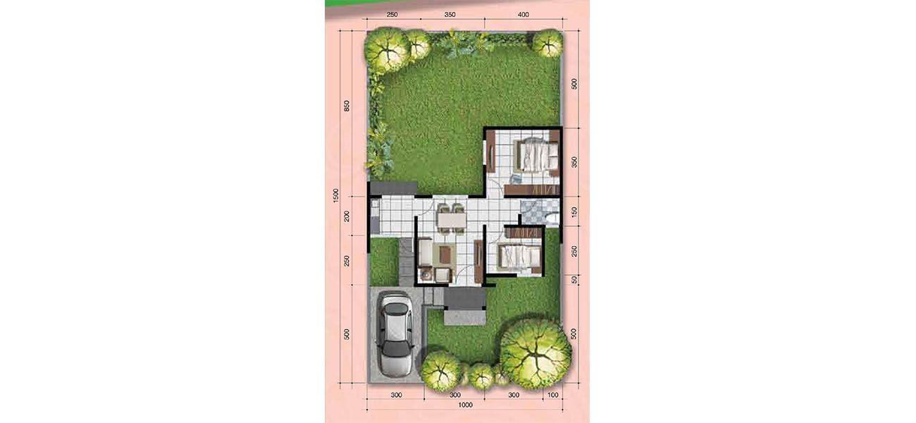 Residensial + Komersial Citra Indah Cluster Bukit Magnolia Tipe 48 di Bogor