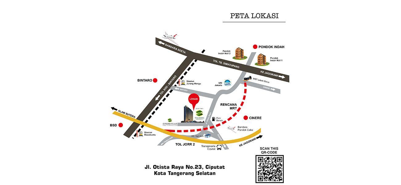 Residensial The Spring Residence Ciputat di Tangerang Selatan