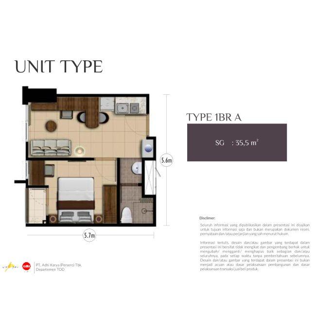 Residensial Royal Sentul Park - LRT City Tipe 1 Bedroom di Bogor