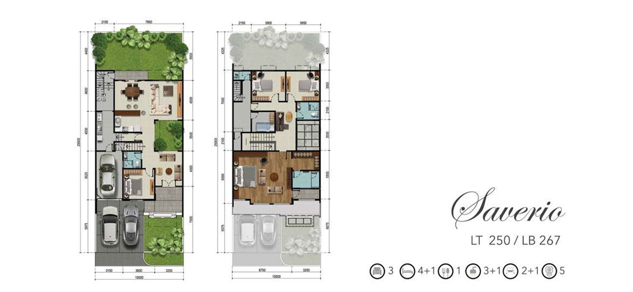 Residensial RKM Tanjung Bunga - The Mansion Tipe Saverio di Makassar