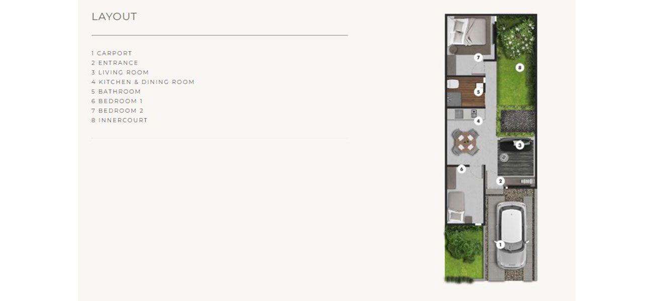 Residensial Samanea Hill Cluster Albizia Tipe Suite di Bogor