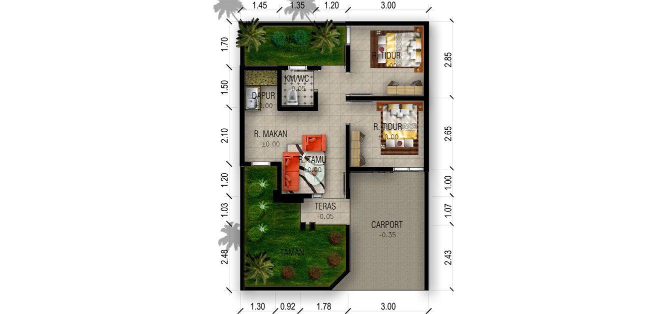 Residensial Suka Ati Residence Tipe 36/70 di Karawang