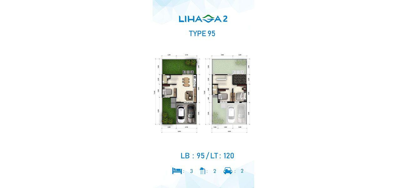 Residensial Cluster Lihaga 2 at Tamansari Metropolitan Residence Tipe 95 di Manado