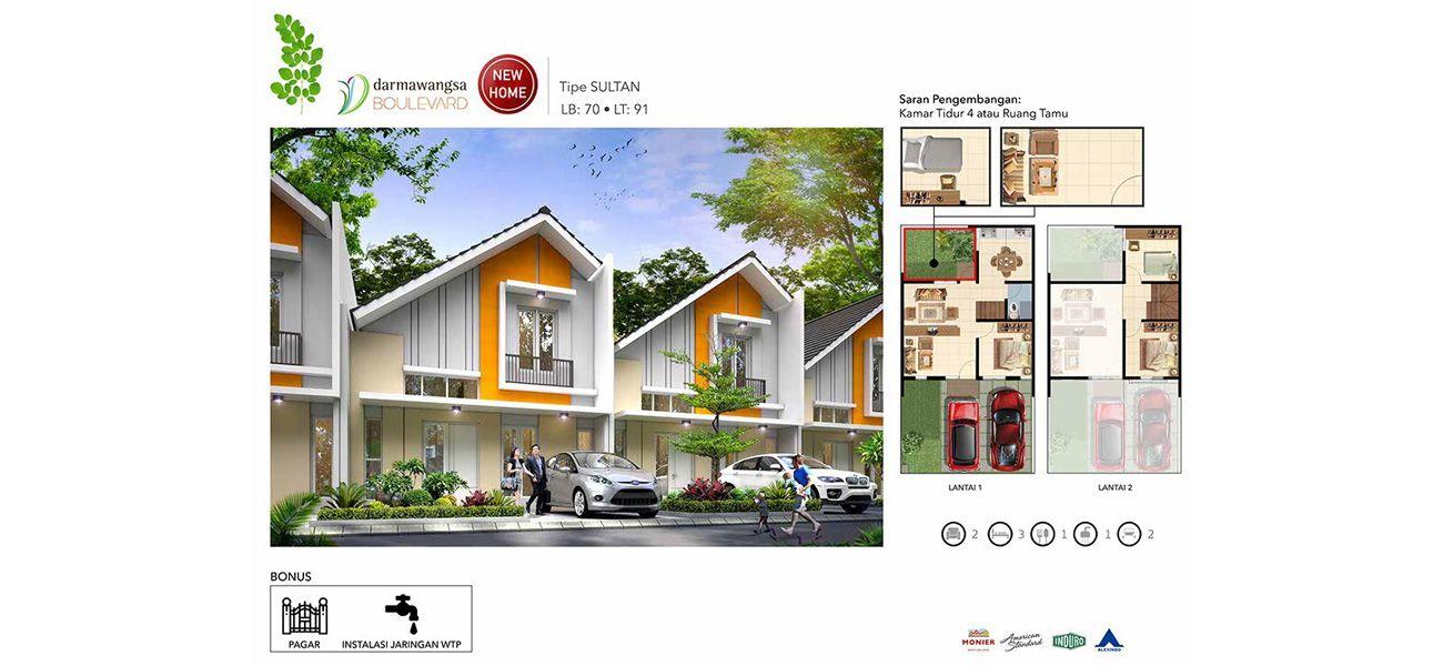 Residensial Darmawangsa Residence Tipe Sultan di Bekasi