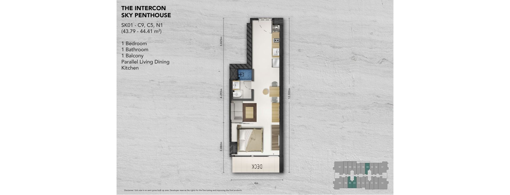 Kemang Village - The Intercon Tipe Sky Penthouse
