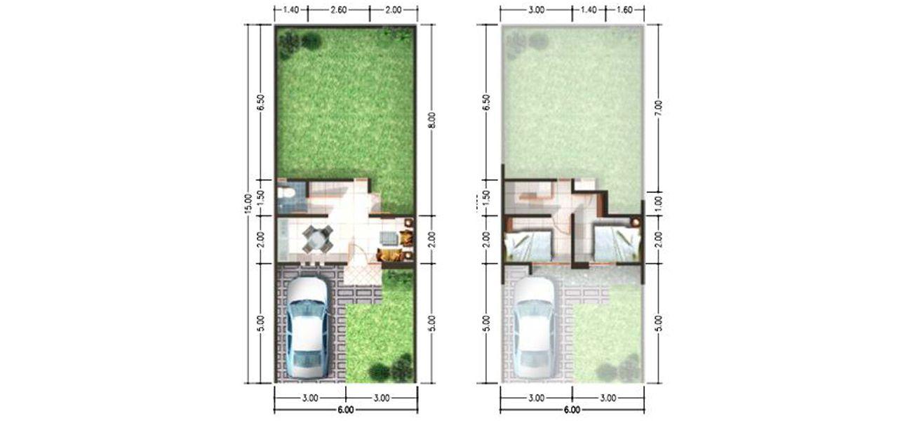 Residensial & Komersial Spring Residence Sidoarjo Tipe 36/90 di Sidoarjo
