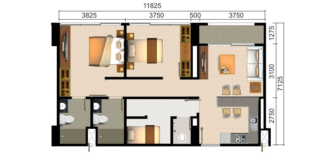 Residensial Paddington Heights Tipe 2 BR+ di Tangerang