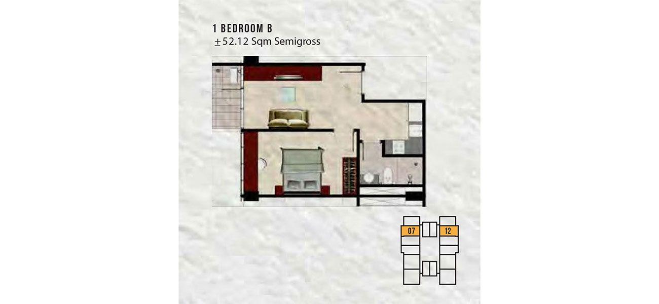 Residensial The Aspen Peak Residences Tipe 1 BR di Jakarta Selatan