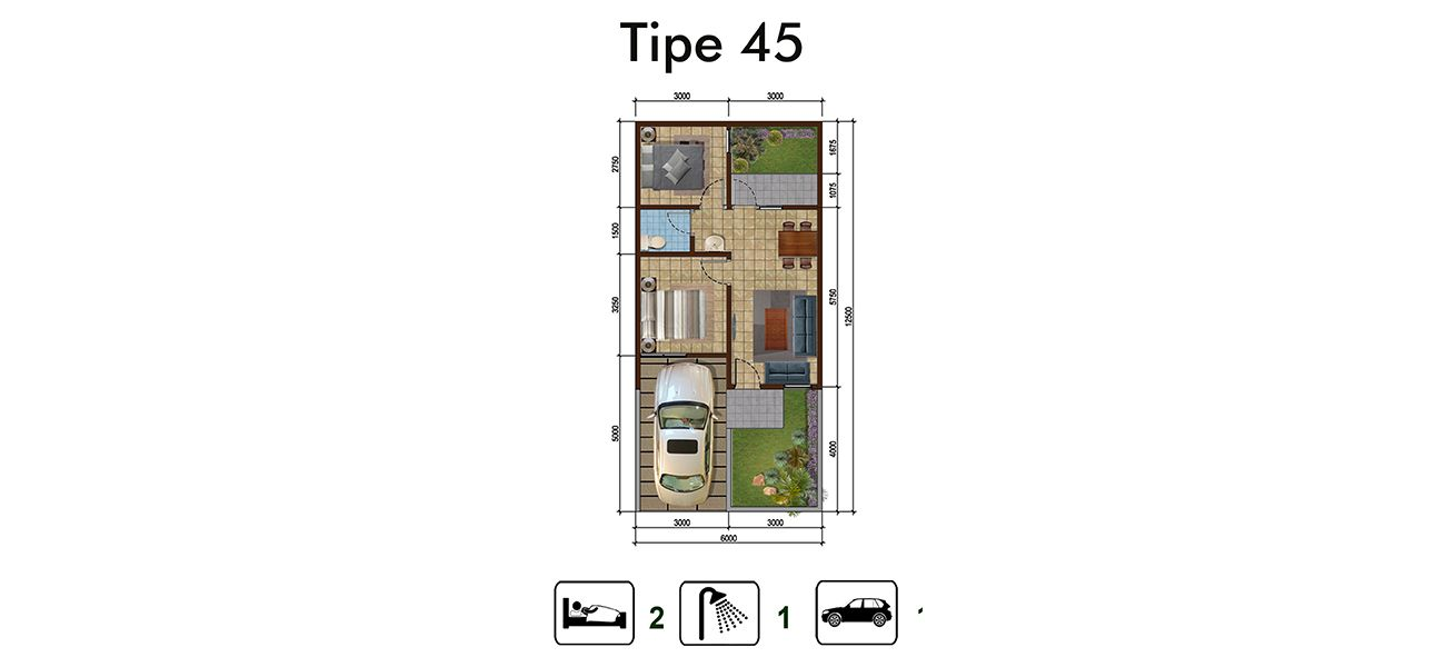 Residensial Kota Sutera - Cluster Blossomville Tipe 45 di Tangerang