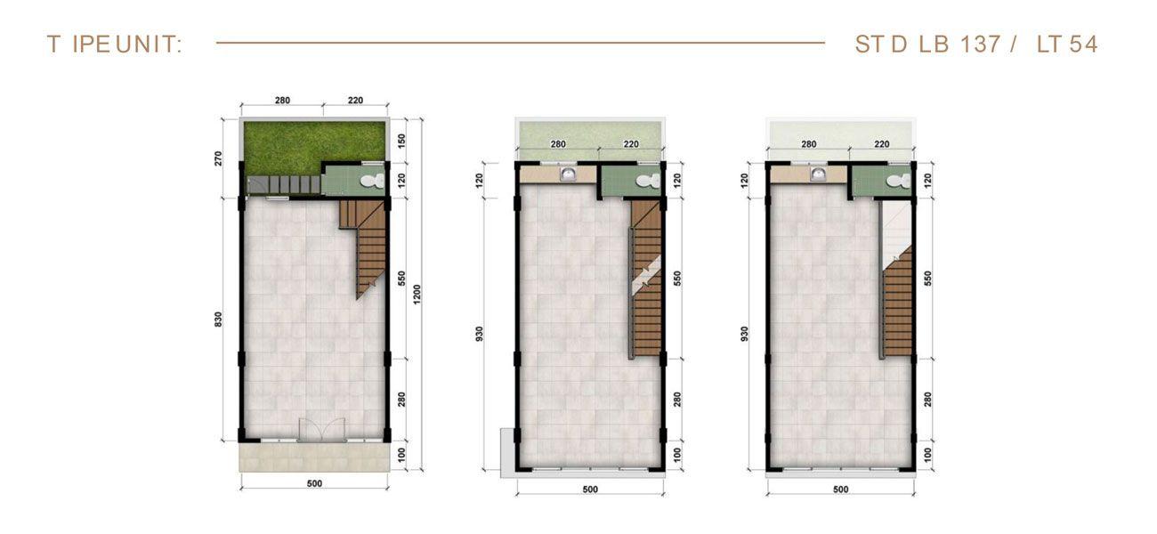 Residensial & Komersial Ruko Modernland Cilejit Tipe 137 di Tangerang