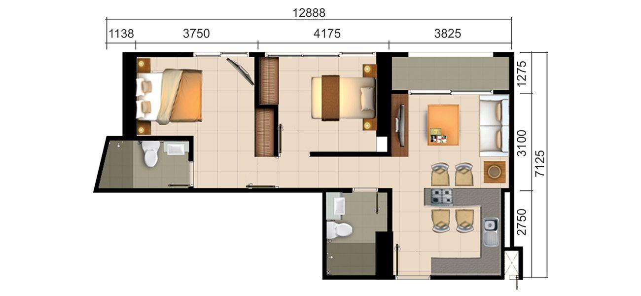 Residensial Paddington Heights Tipe 2 BR di Tangerang