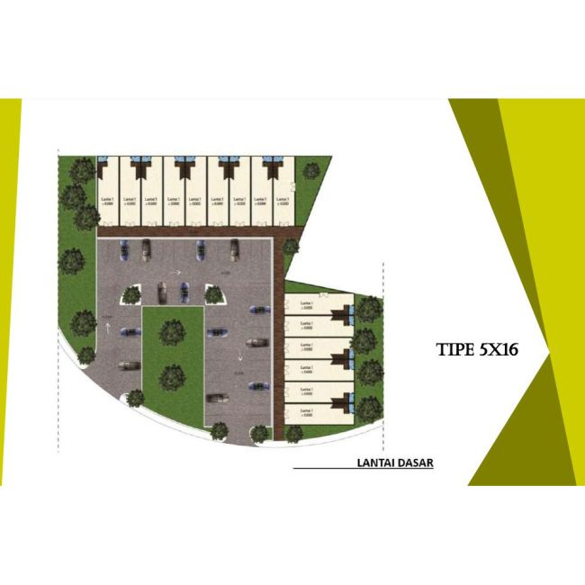 Residensial Ruko Cluster Lihaga Tipe 5x16 di Manado