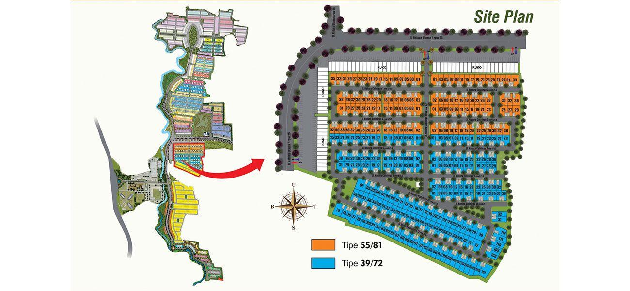 Residensial Serpong Natura City Cluster Natura Cattleya di Bogor