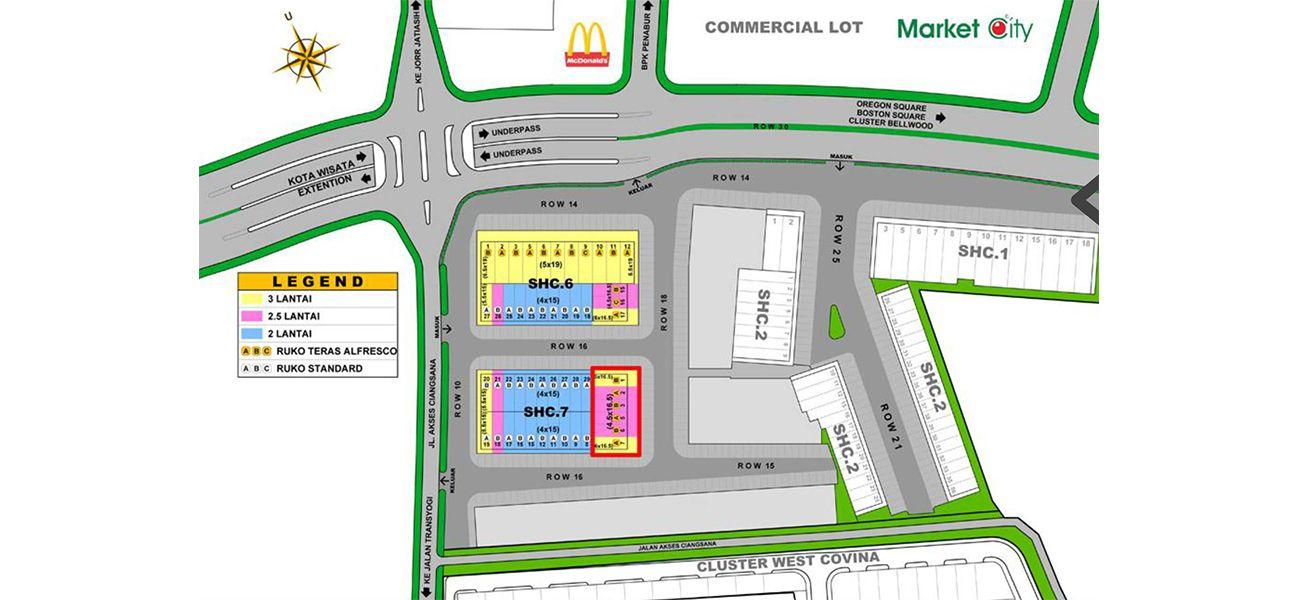 Residensial & Komersial Downtown Madison Tipe 3 LT di Bogor