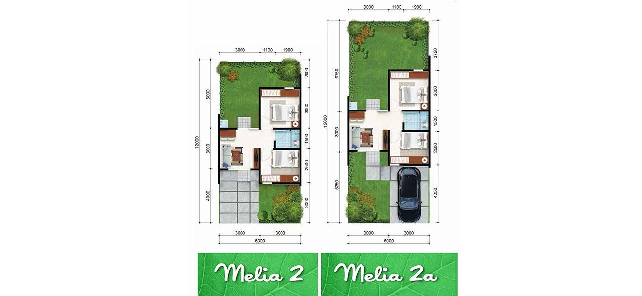 Residensial + Komersial Citra Indah Cluster Bukit Melia Tipe 30 di Bogor