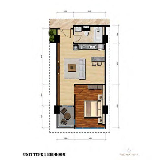 Residensial The Padmayana Apartemen Tipe 1 Bedroom di Jakarta Selatan
