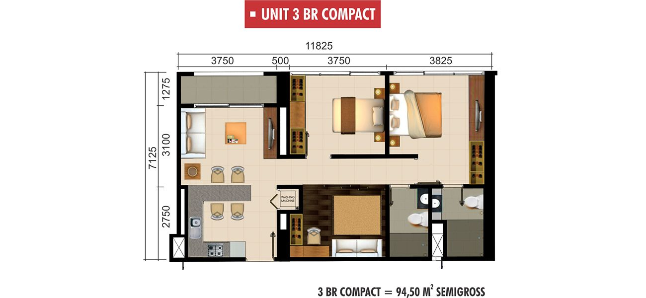 Residensial Paddington Heights Unit 3 BR Compact di Tangerang