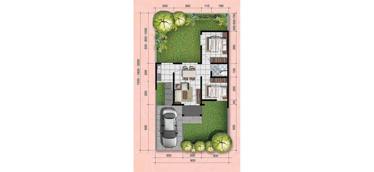 Residensial + Komersial Citra Indah Cluster Bukit Magnolia Tipe 42 di Bogor