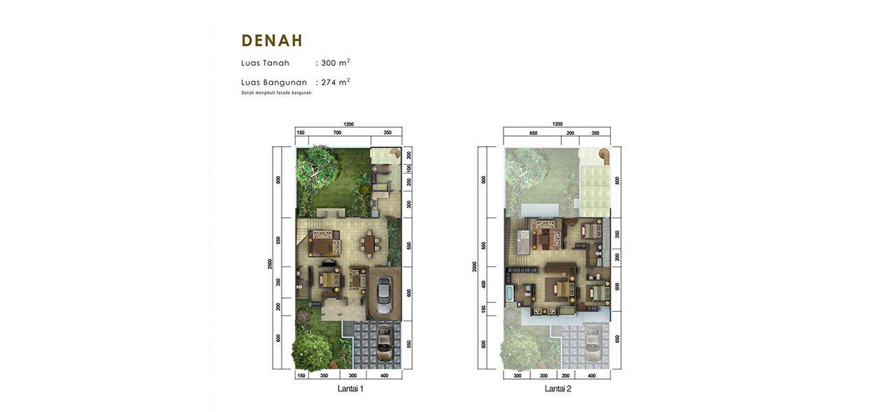 Residensial Cluster Goldfinch Tipe L at The Springs di Tangerang