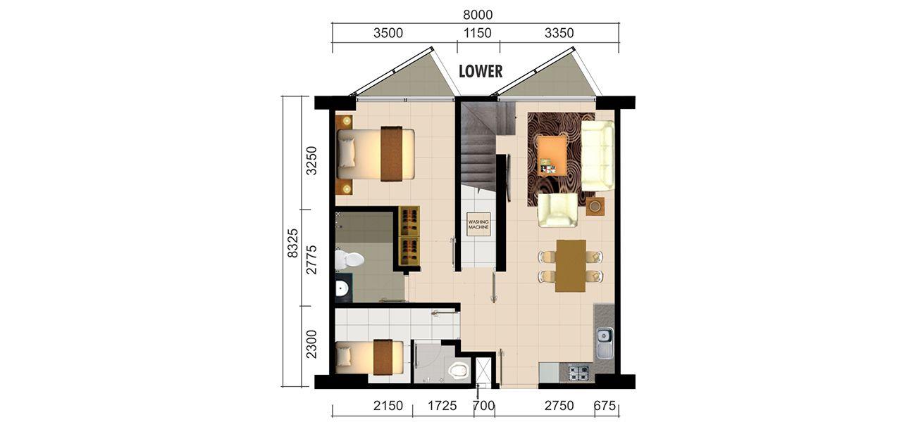 Residensial Paddington Heights Unit 3 BR Loft di Tangerang