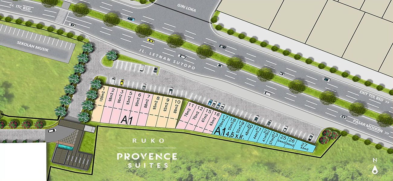 Residensial & Komersial BSD City - Ruko Provence Suites di Tangerang Selatan