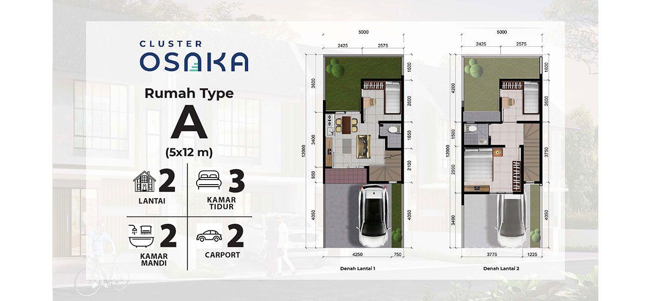 Residensial Cluster Osaka at Metland Transyogi Tipe A di Bogor