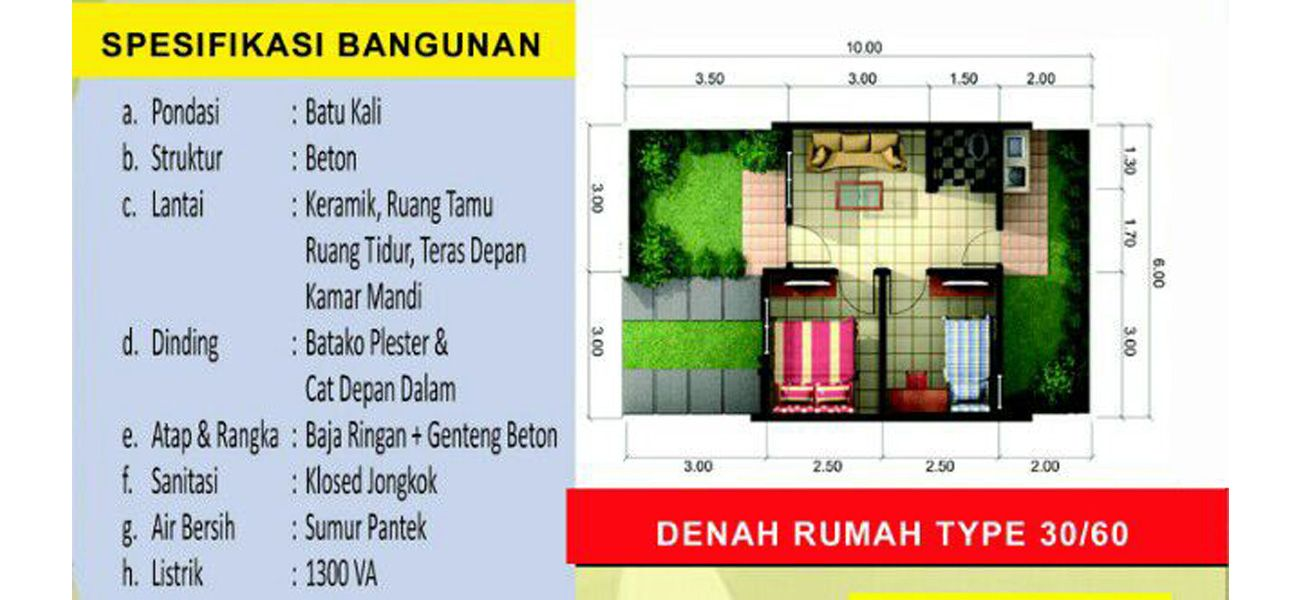 Residensial Griya Artha Sepatan Tipe 30/60 di Tangerang