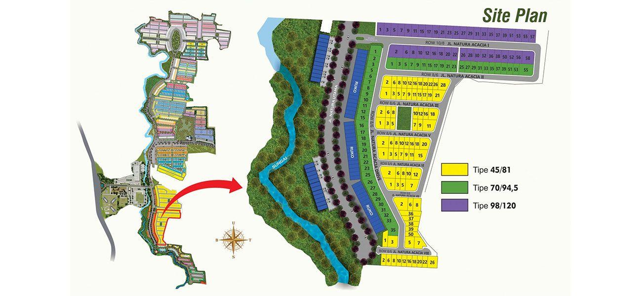 Residensial Serpong Natura City Cluster Natura Acacia di Bogor