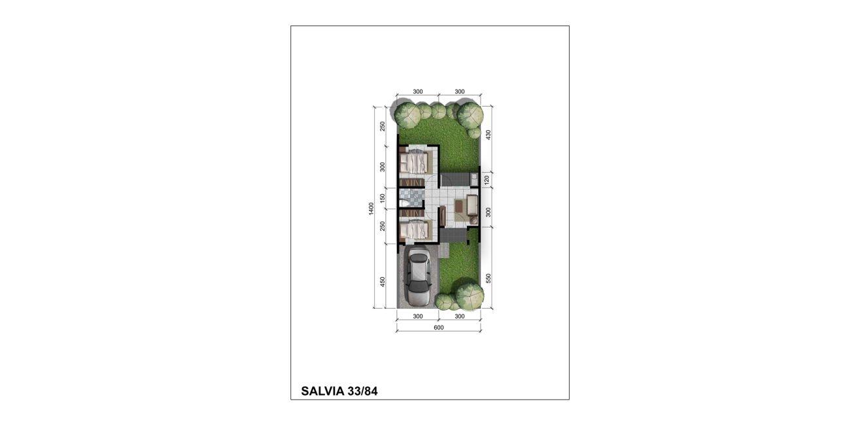 Residensial + Komersial Citra Indah Cluster Bukit Salvia Tipe 33 di Bogor