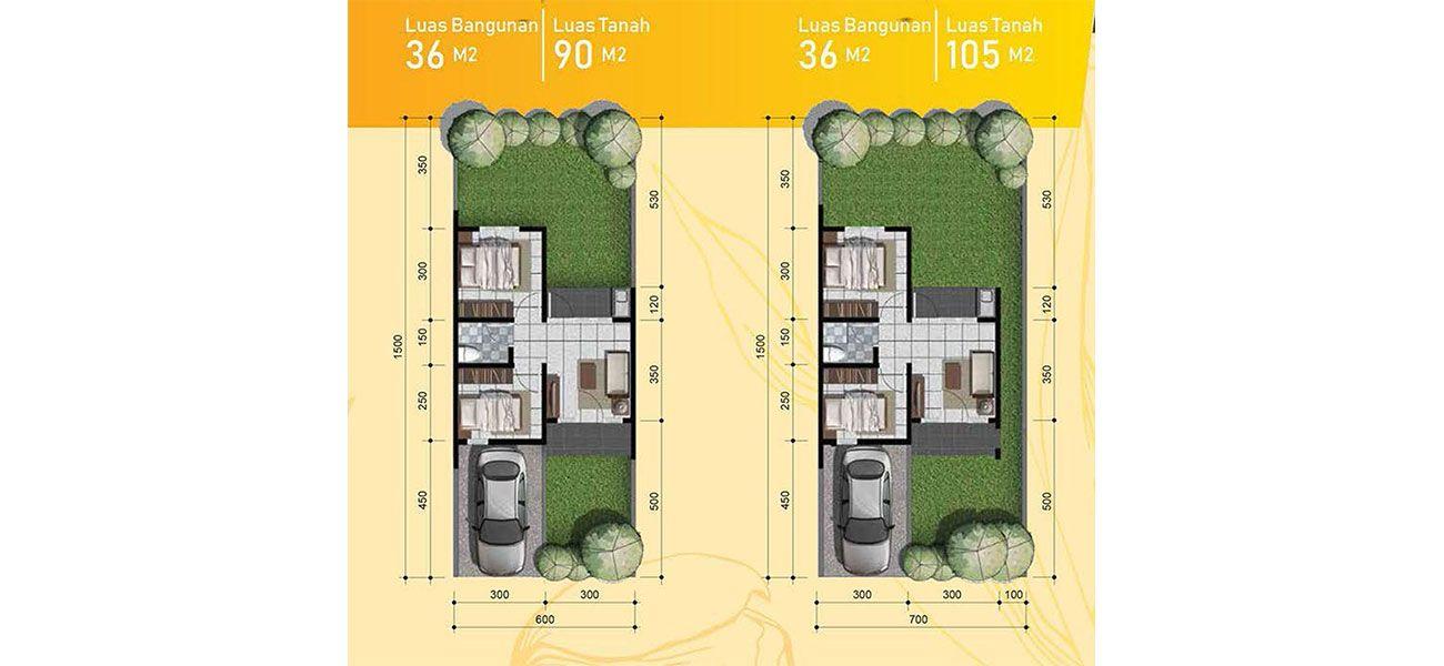 Residensial + Komersial Citra Indah Cluser Bukit Tulip Tipe 36 di Bogor