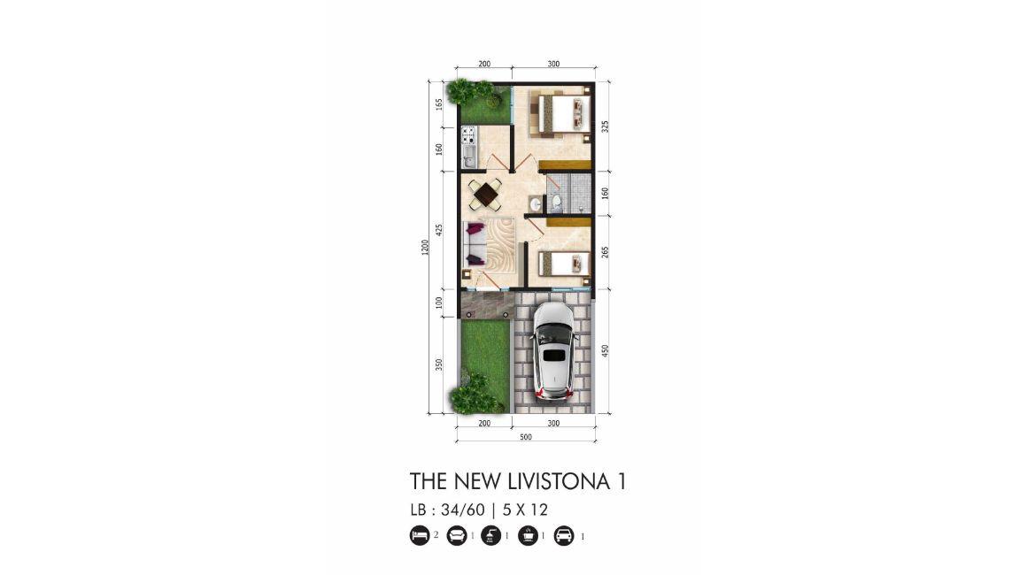 Residensial Citraland Cibubur Tipe The New Livistona 1 di Bogor