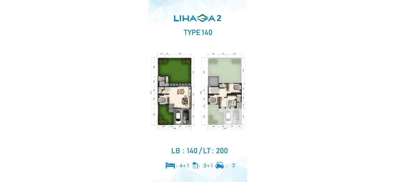 Residensial Cluster Lihaga 2 at Tamansari Metropolitan Residence Tipe 140 di Manado