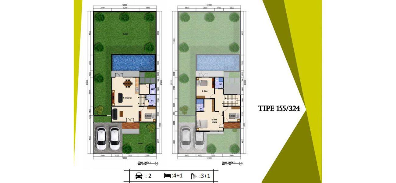 Residensial Cluster Lihaga at Tamansari Metropolitan Residence Tipe 155 di Manado