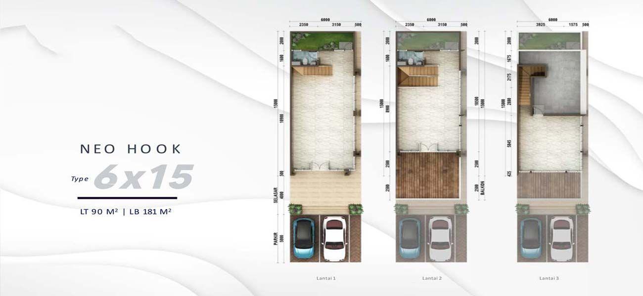 Residensial & Komersial Podomoro Park Bandung Neo Plaza Tipe 6 di Bandung