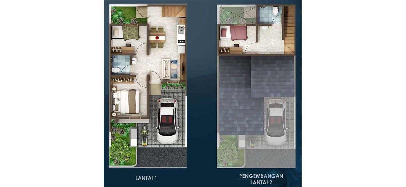 Residensial & Komersial Cluster Padmagriya Tipe 6x11 di Bandung