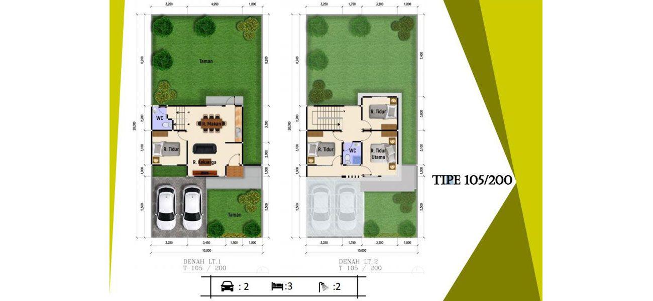 Residensial Cluster Lihaga at Tamansari Metropolitan Residence Tipe 105 di Manado