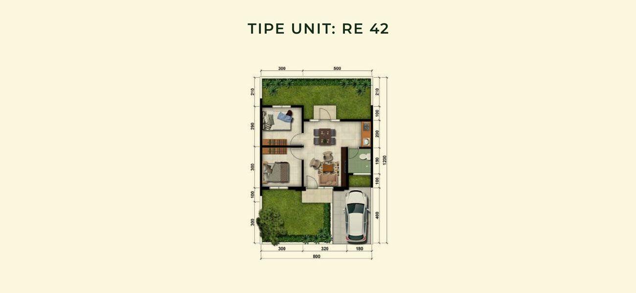 Residensial & Komersial Modernland Cilejit Tipe RE 45 di Tangerang