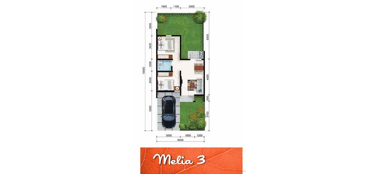 Residensial + Komersial Citra Indah Cluster Bukit Melia Tipe 36 di Bogor