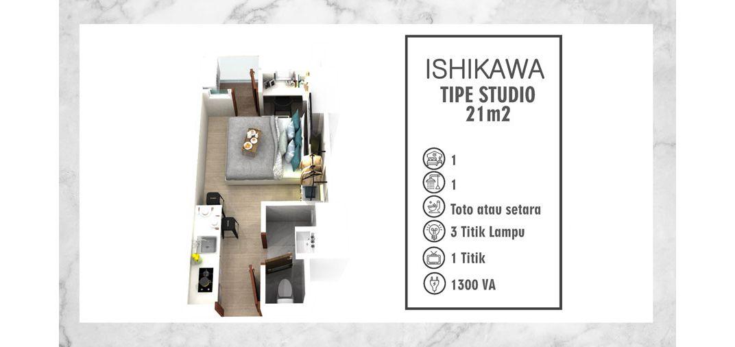 Residensial PIK 2 - Tower Ishikawa Tipe Studio di Jakarta Utara