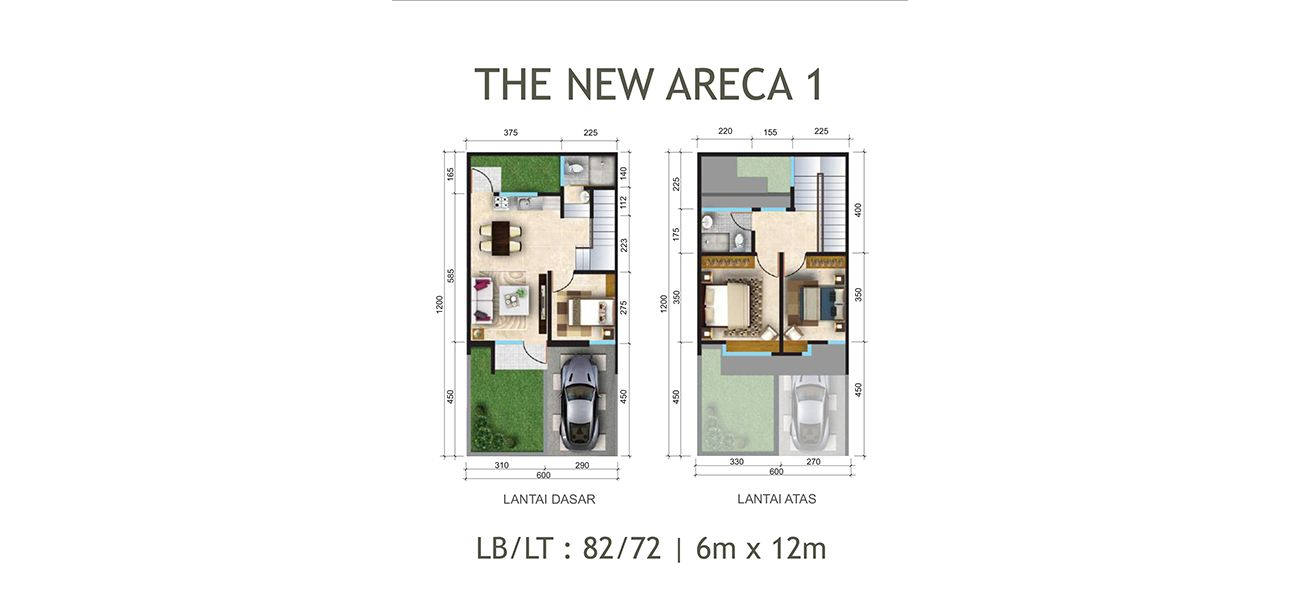 Residensial Citraland Cibubur Tipe New Areca 1 di Bogor