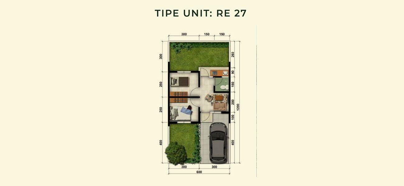 Residensial & Komersial Modernland Cilejit Tipe RE 27 di Tangerang