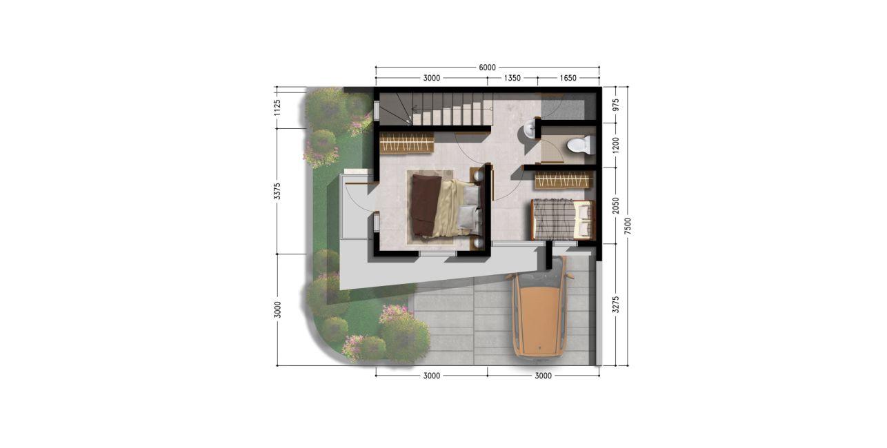 Residensial & Komersial Cluster Thalassa Residence Tipe 50/45 di Karawang