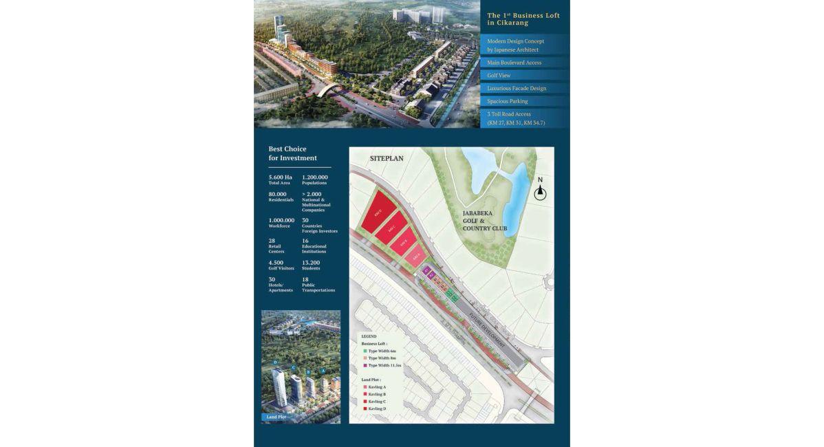 Komersial Ginza Business Loft Tipe 11,5 di Bekasi