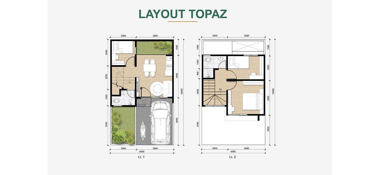 Residensial Cluster Astoria at Emerald Cilebut Tipe Topaz di Bogor