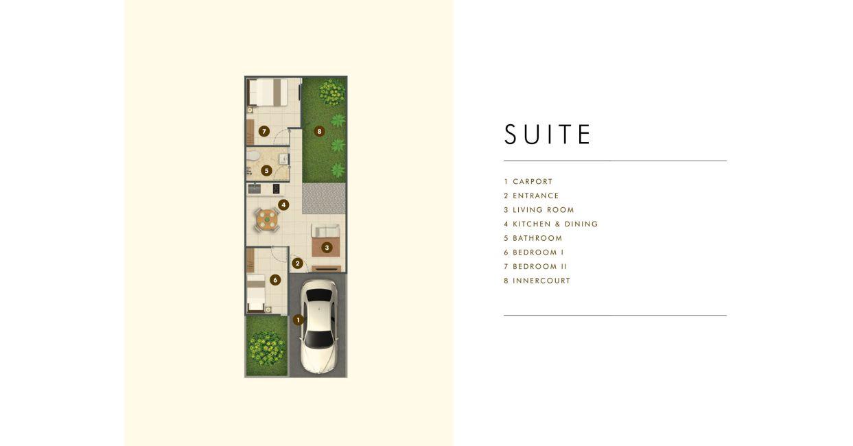 Residensial Samanea Hill Cluster Acacia Tipe Suite di Bogor