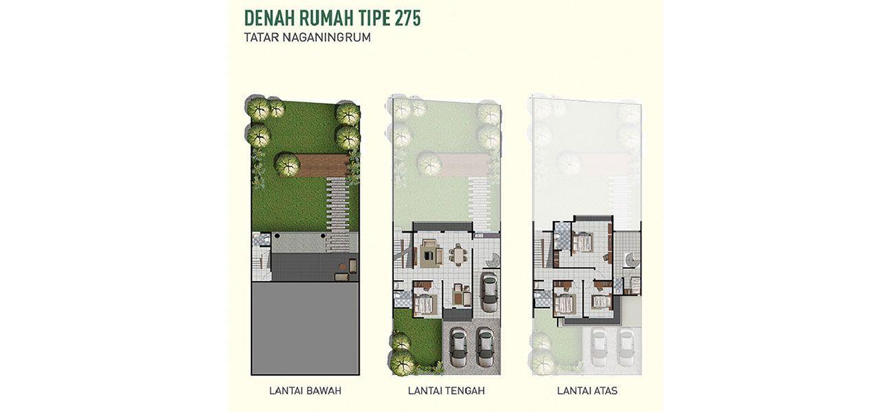 Residensial Cluster Tatar Naganingrum Tipe Nagatirta Wanoja di West Bandung