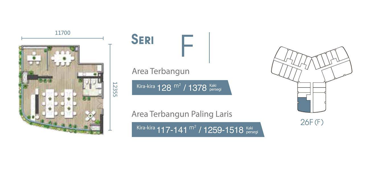 Residensial & Komersial Carnelian Tower at Forest City Seri F di Jakarta Utara