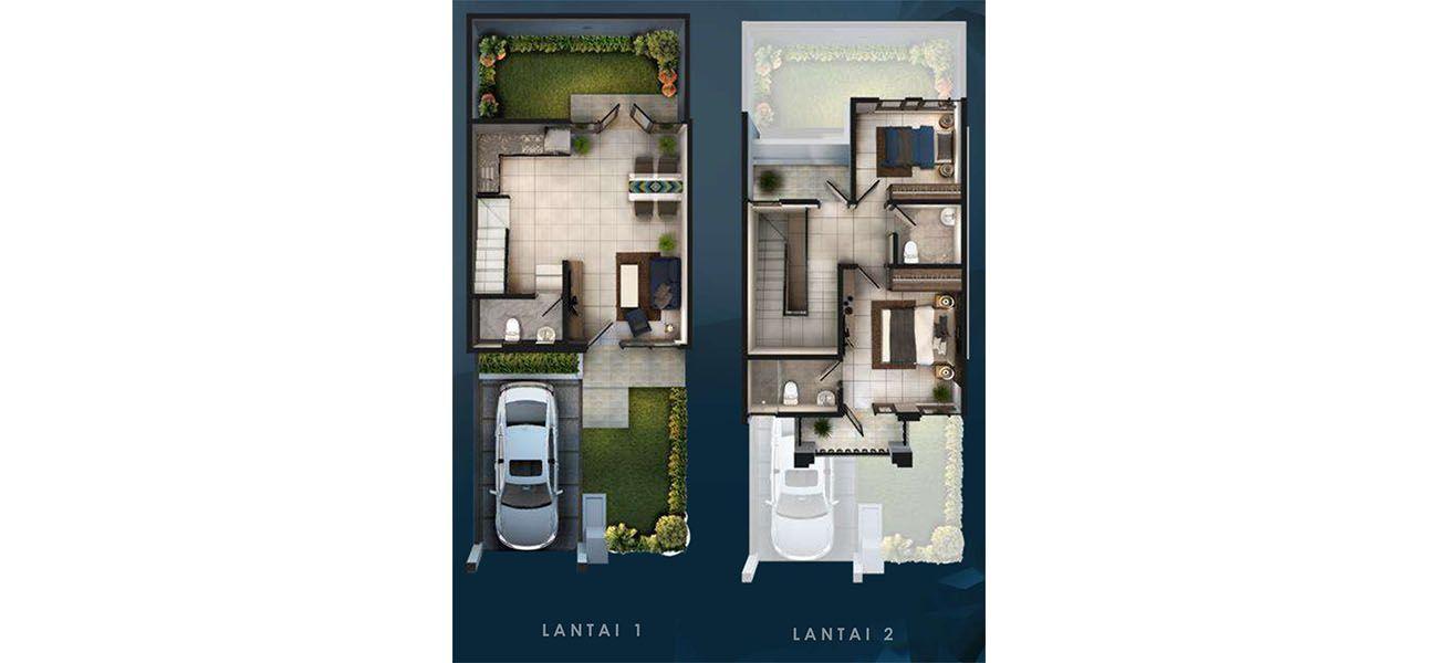 Residensial & Komersial Cluster Amagriya Tipe 6x17 di Bandung