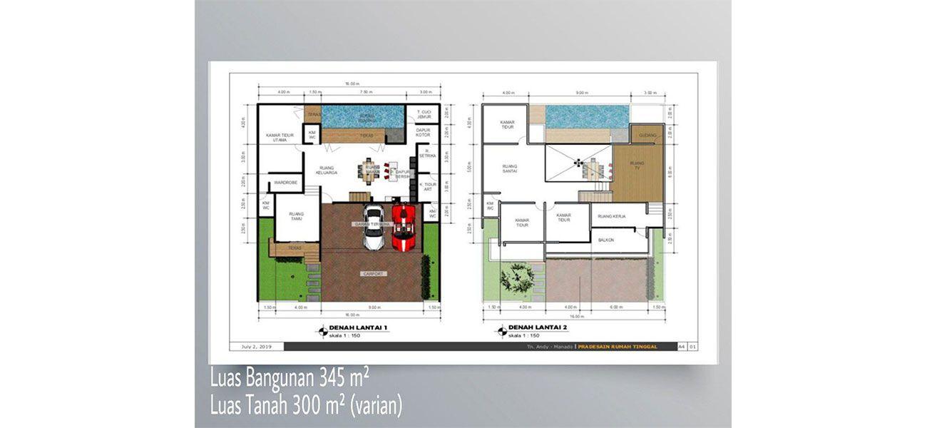 Residensial Cluster Lihaga dePrimera at Tamansari Metropolitan Residence Tipe 345 di Manado